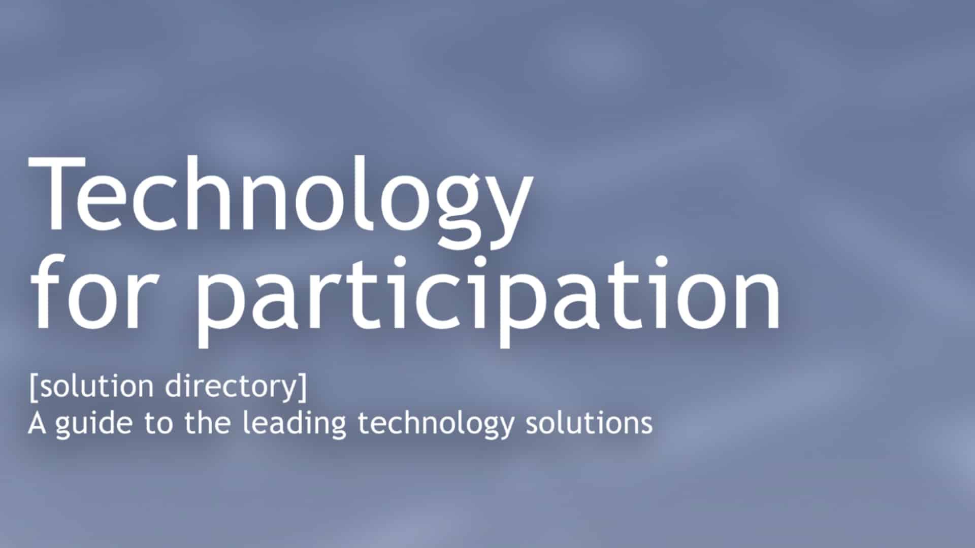 tech for participation