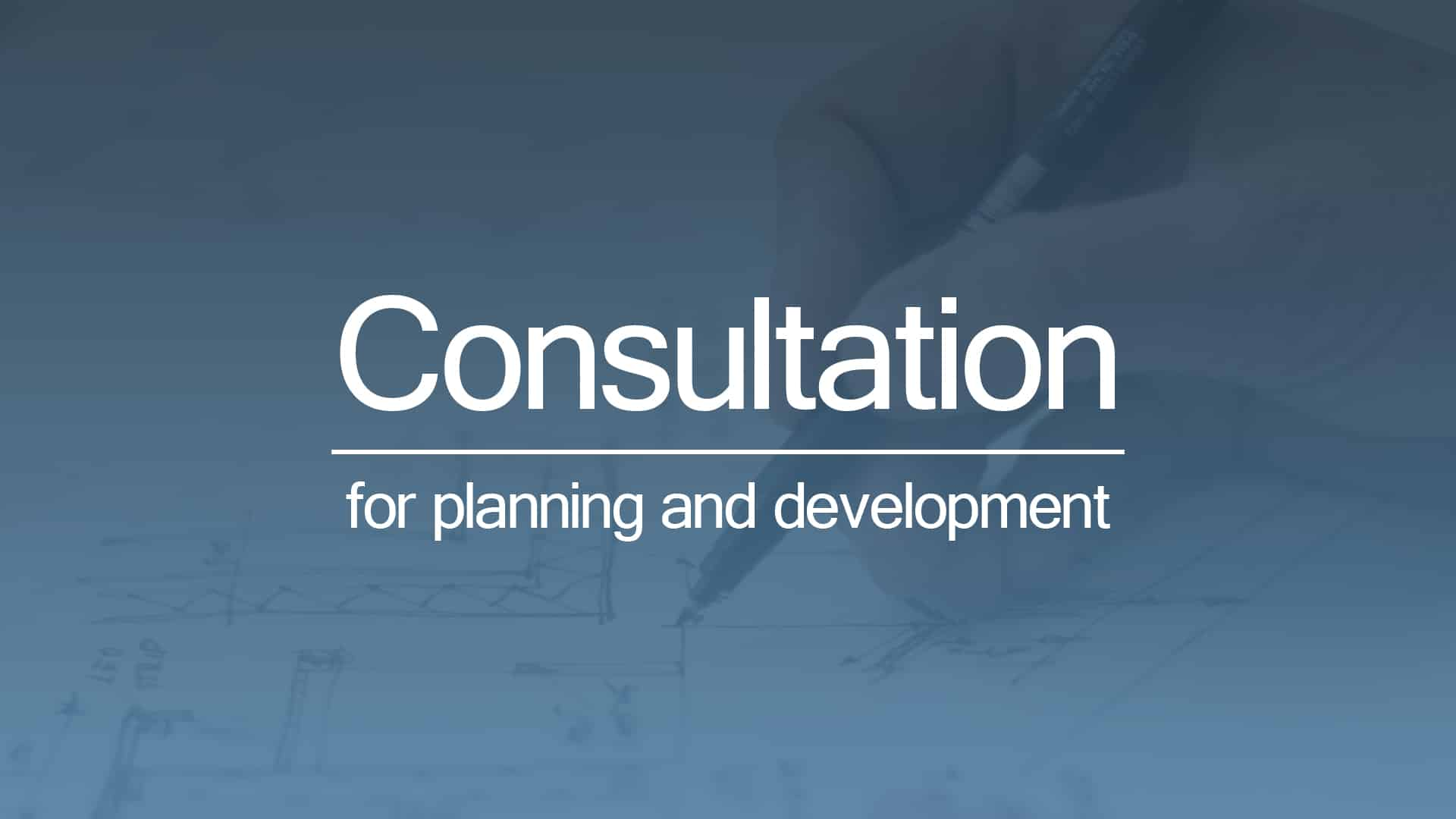 consultation for planning